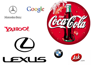 Corporate Brands of companies, used to illustrate the importance of SEO and Company Image